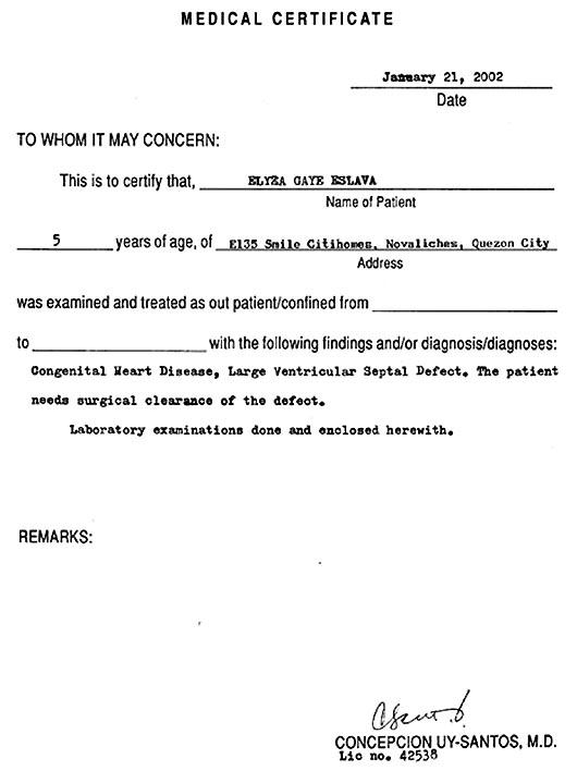 medical report samples